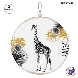 Image du tableau porte-photos circulaire - Out of Africa - Girafe